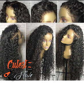 Full lace wig deep curl 180% density