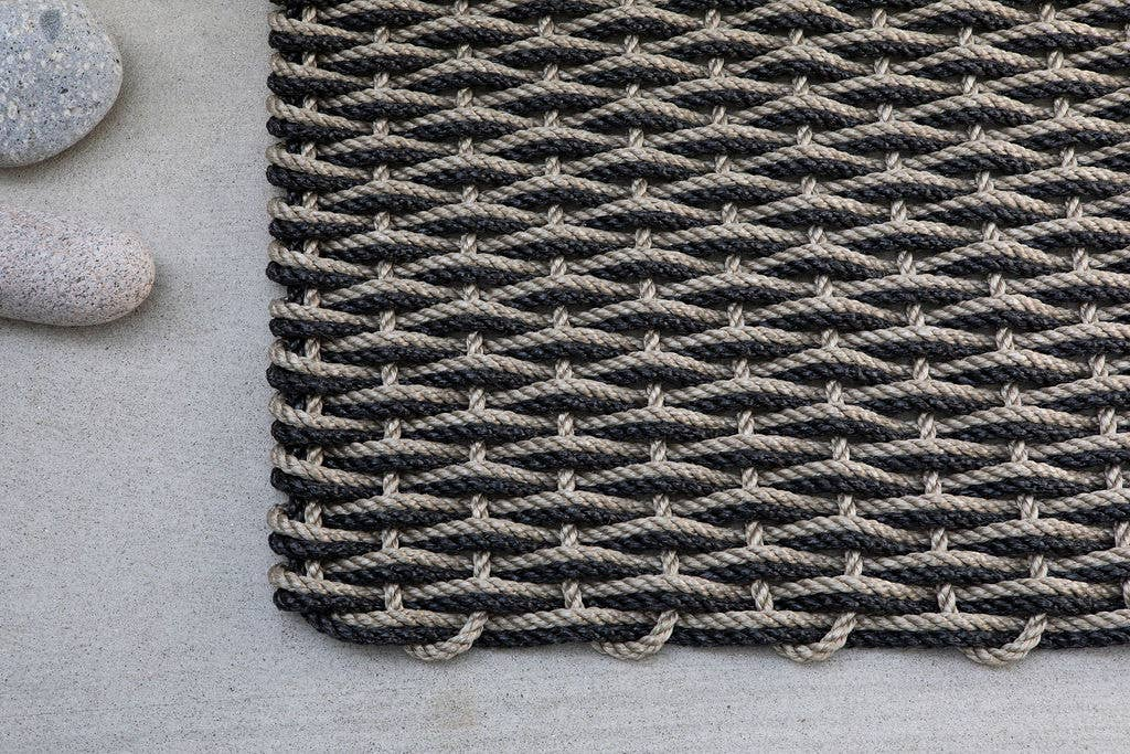 The Rope Co. - Sand and Charcoal Doormat