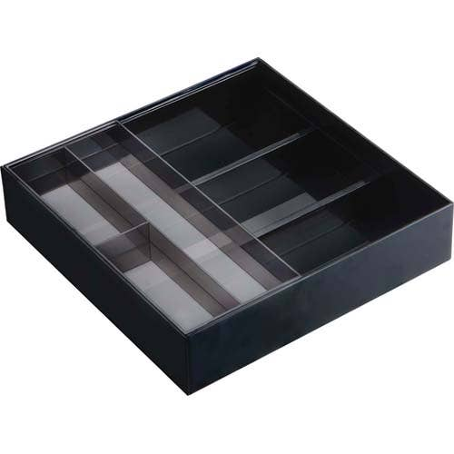Tower Expandable Cutlery Drawer Organizer Black