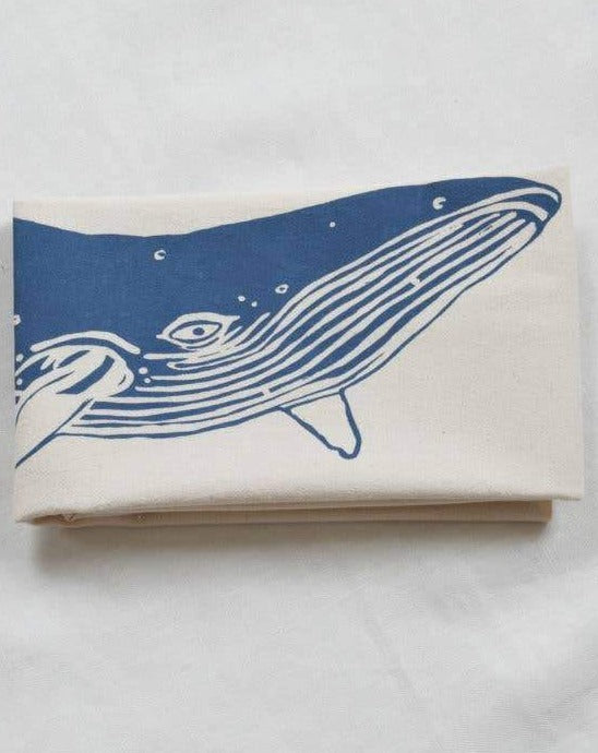Whale Tea Towel (Blue)