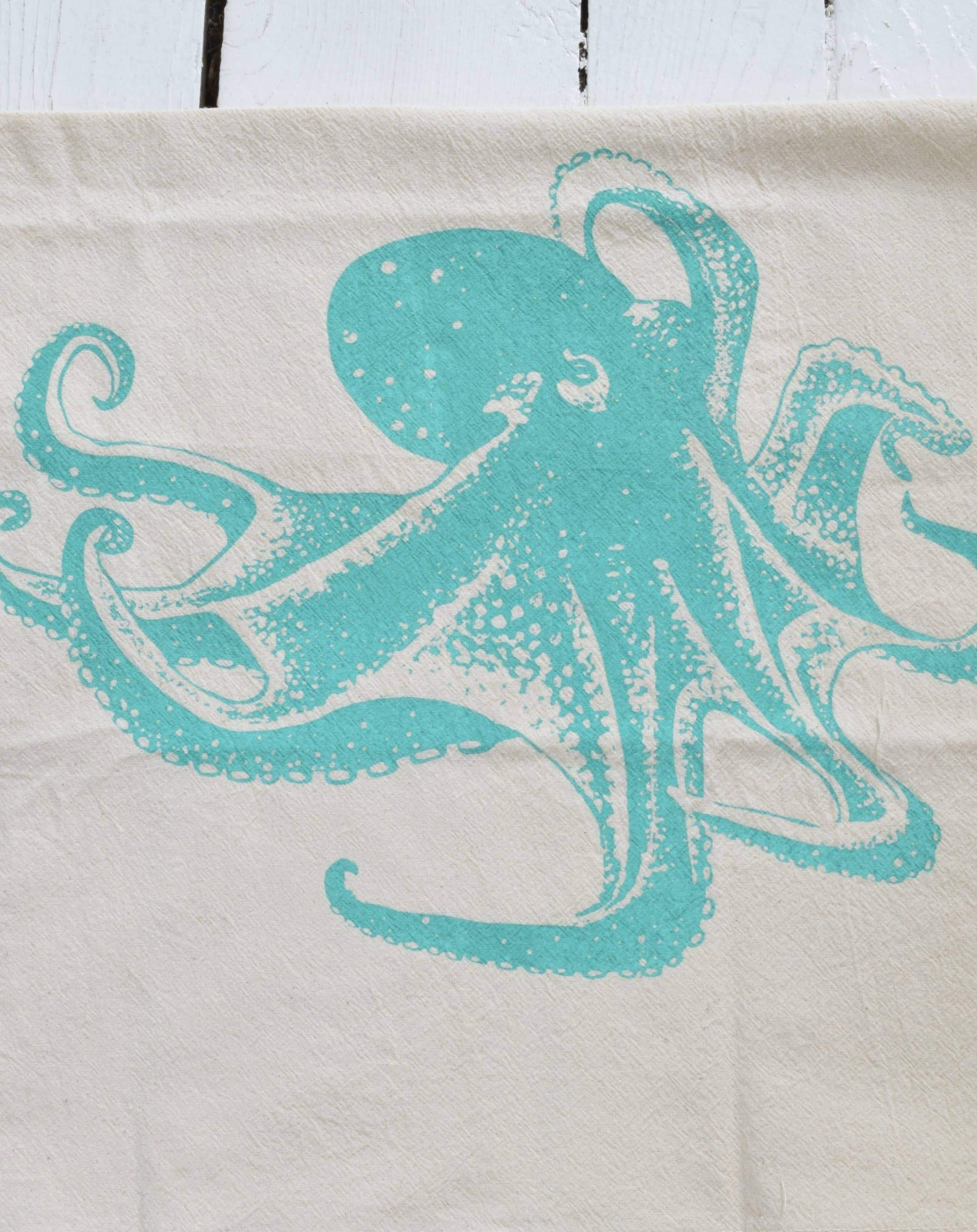 Octopus Tea Towel organic