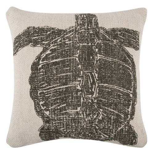 Turtle Sketch Pillow - Olive