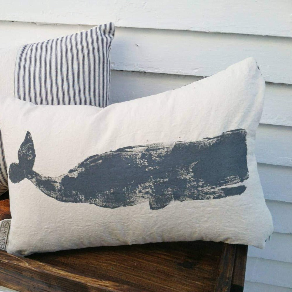 Whale Canvas Pillow