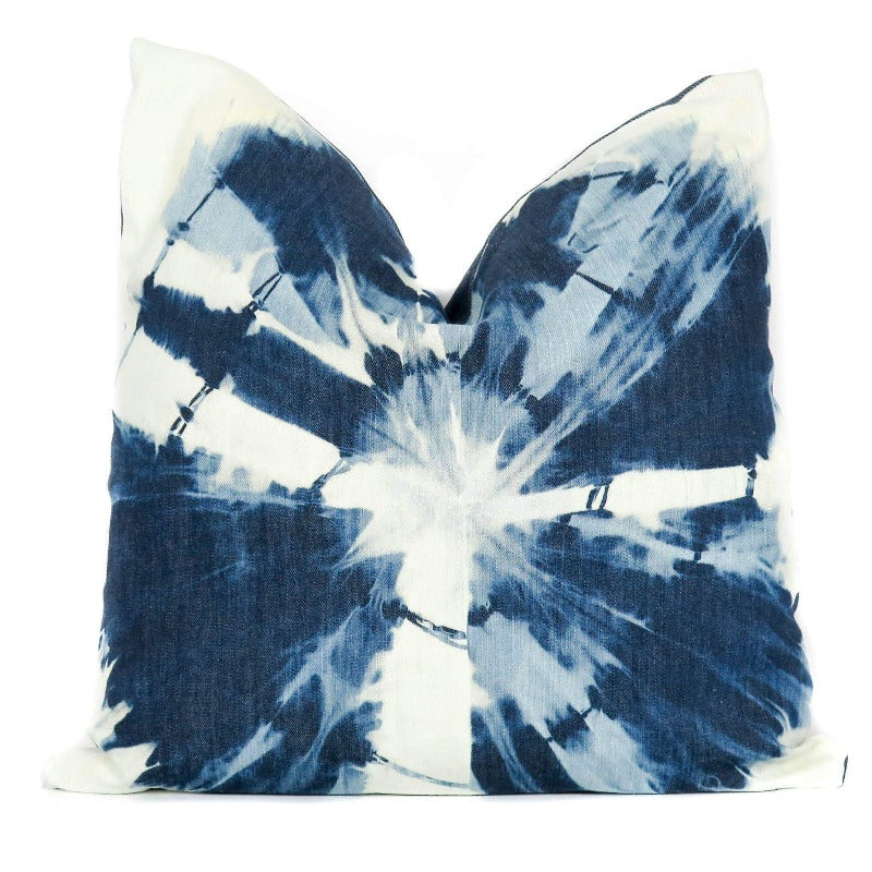 Shibori pillow beach house 18x18 hunted fox