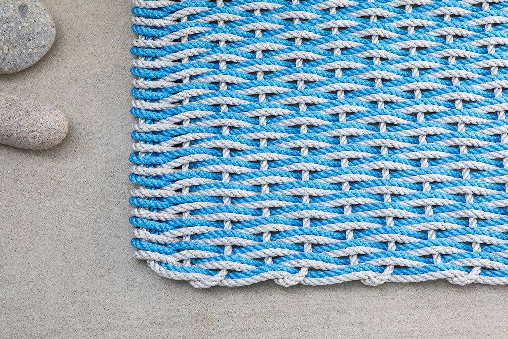 The Rope Co. - Fog Gray and Blue Sky Doormat