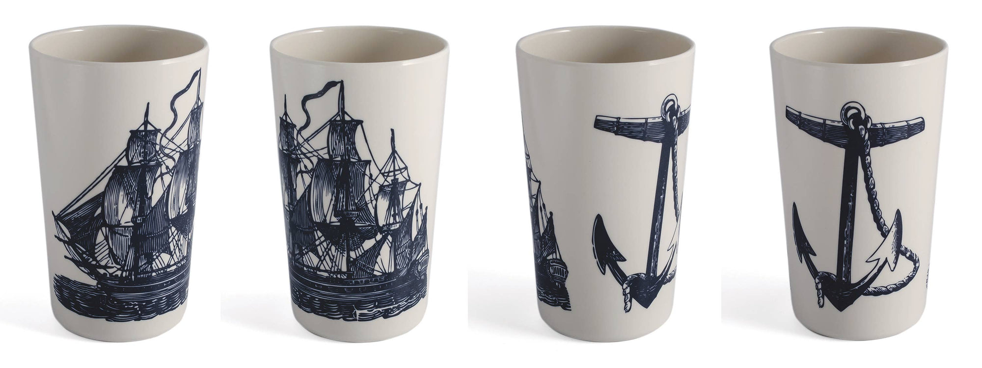 THOMASPAUL - Scrimshaw Melamine Tumblers Set of 4