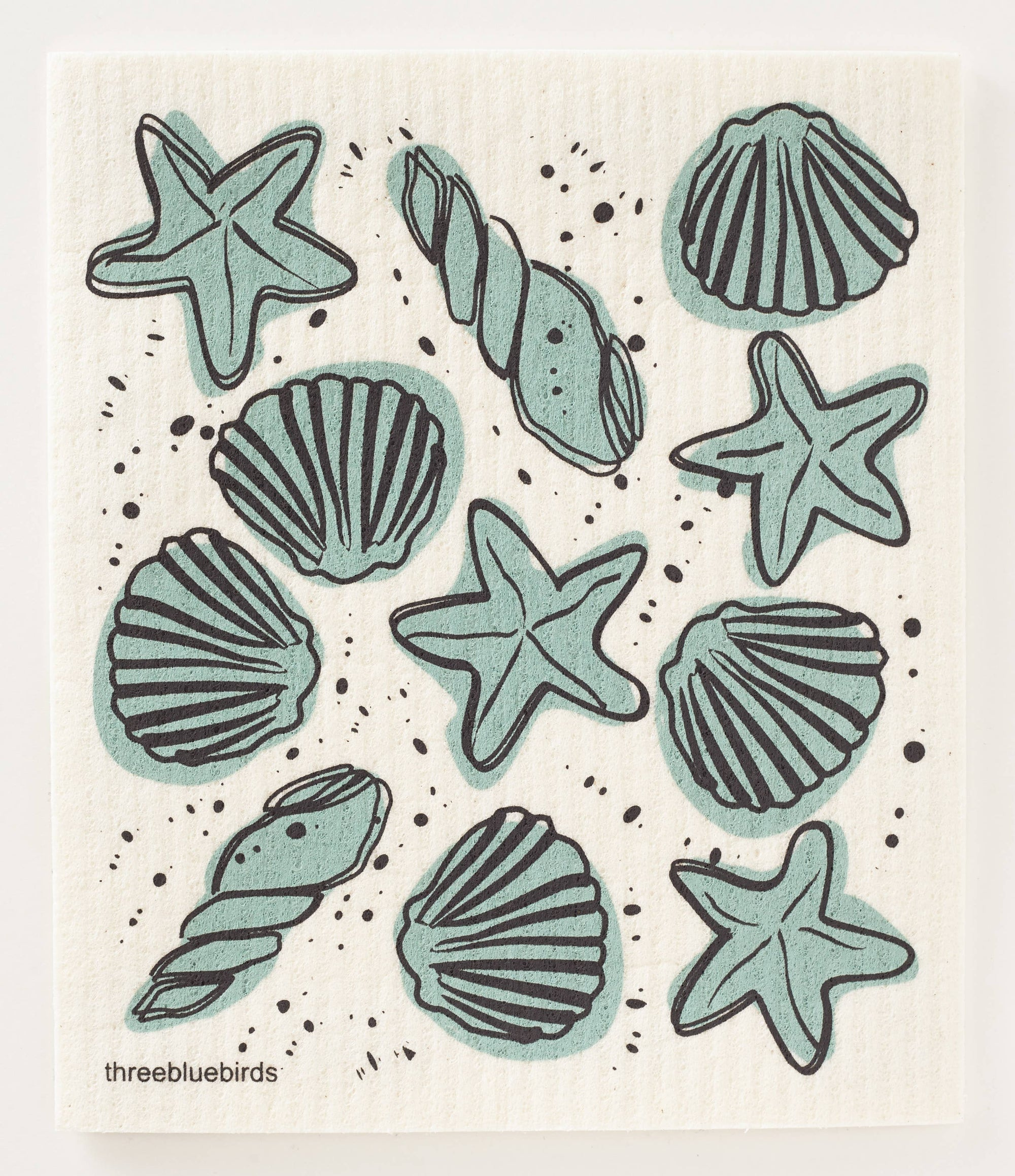 Seashells Swedish Dishcloth