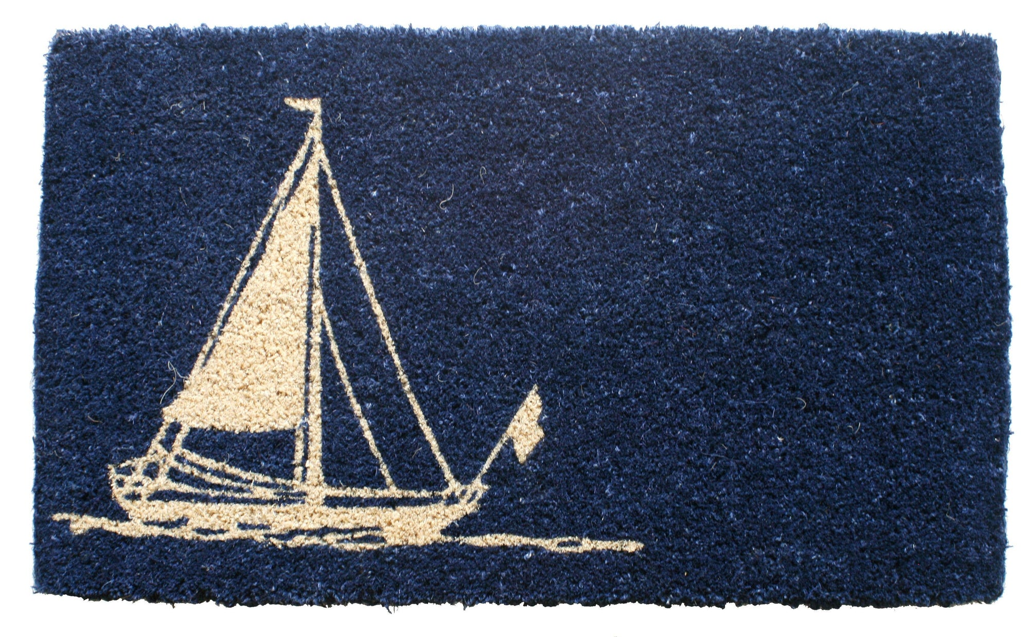 Sailboat Coconut Fiber Doormat
