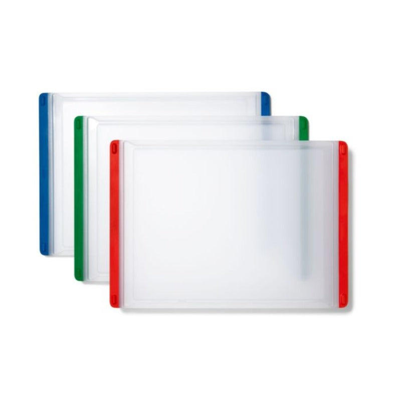 9x13 color coded cutting board set silicone edges