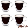 Double Wall Espresso Cups set 4
