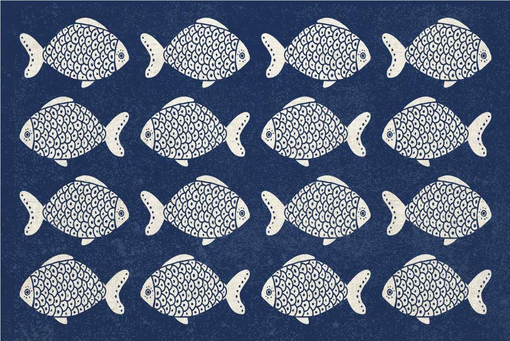 Thick Vinyl Placemat Fish