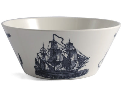 Scrimshaw Melamine Large Serving Bowl