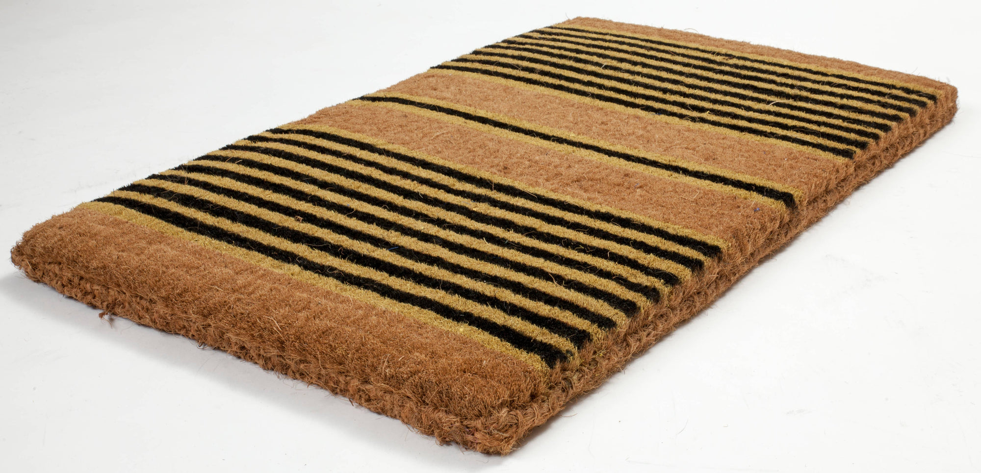 Ticking Stripes Extra-Thick Handwoven Coconut Fiber Doormat