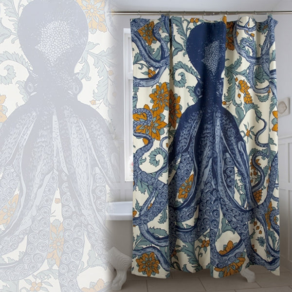 Octopus Shower Curtain Vineyard