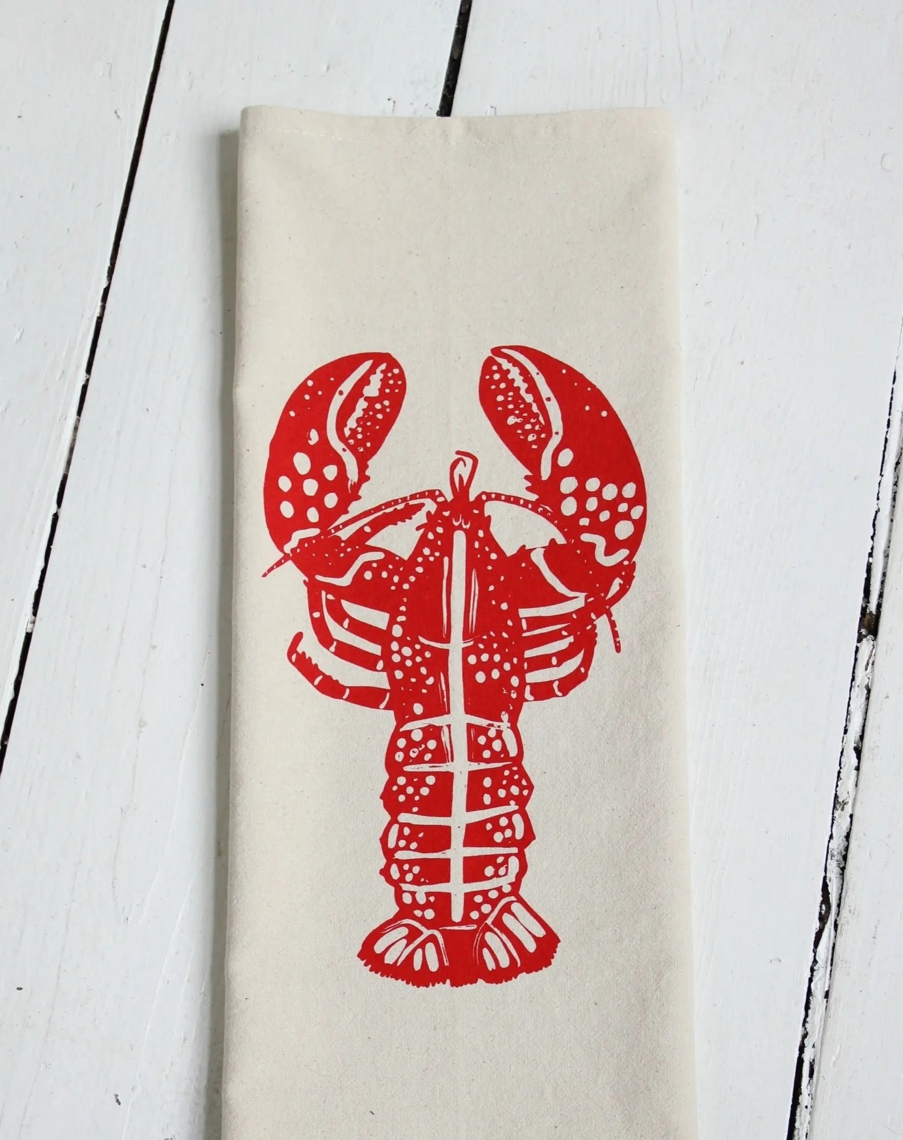 Lobster Tea Towel (Red)
