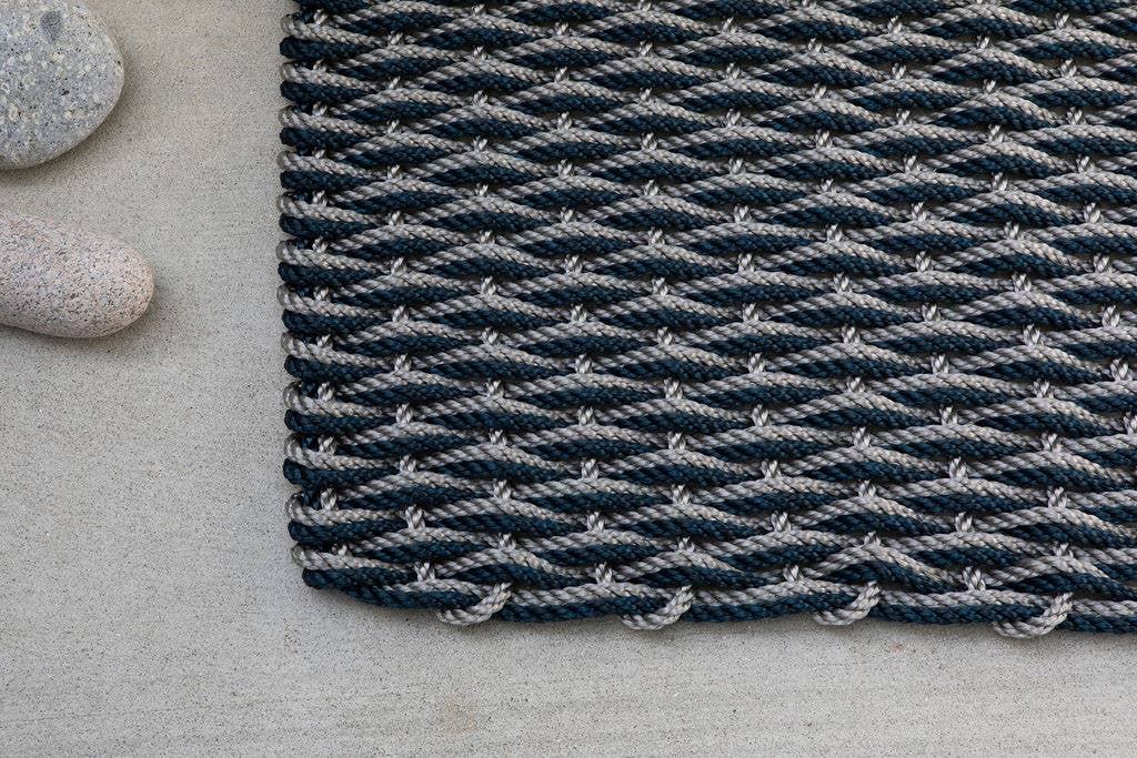 The Rope Co. - Slate Gray and Navy Doormat