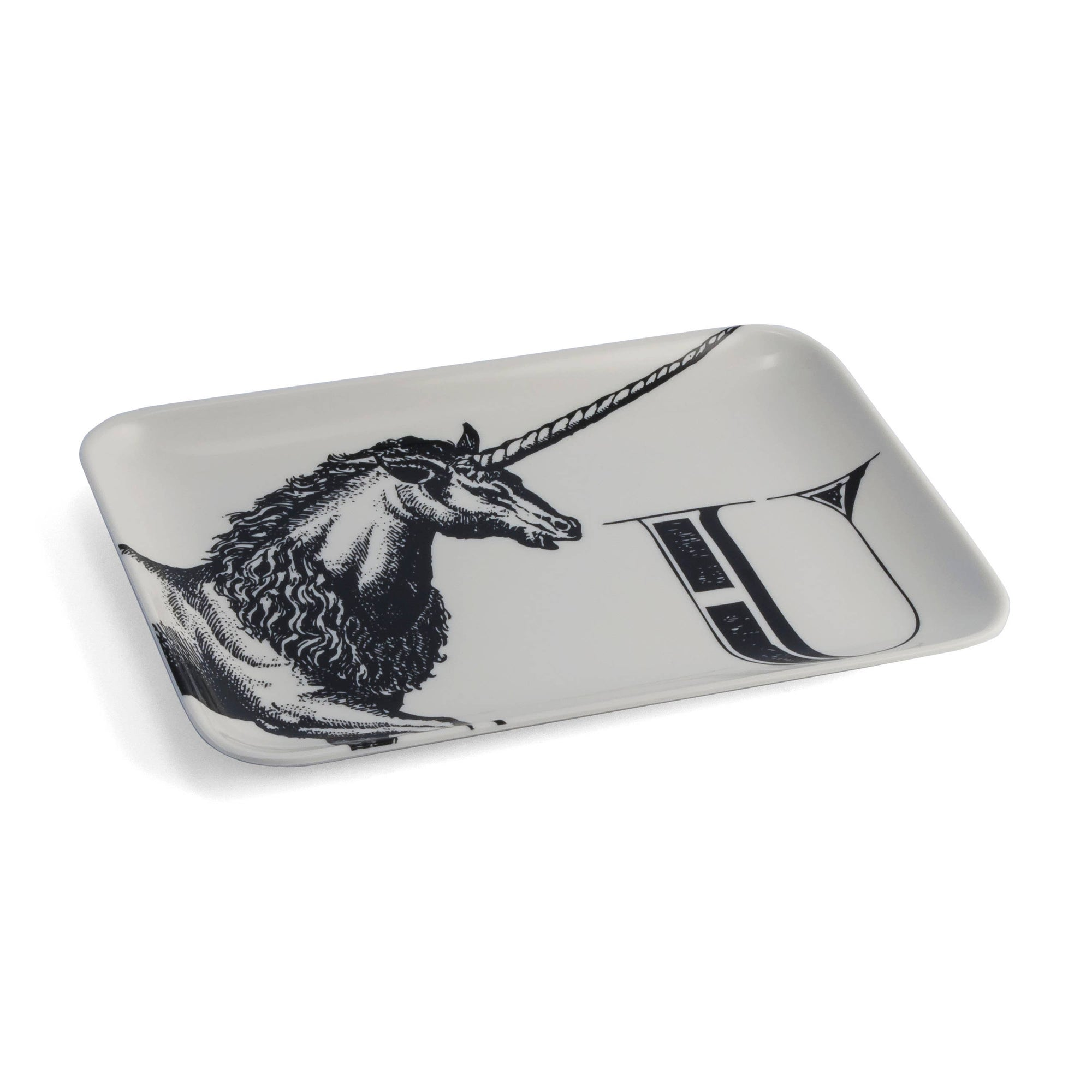 U Unicorn Alphabet Tray