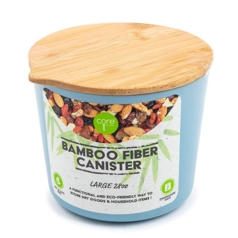 Bamboo Fiber Canister 28oz - Blue Sea