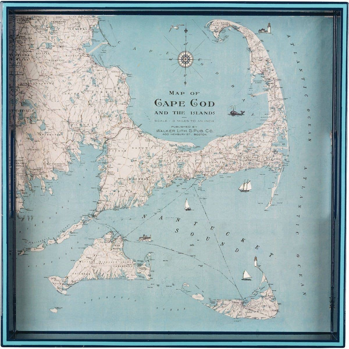 "Cape Cod 15"" Square Art Tray"