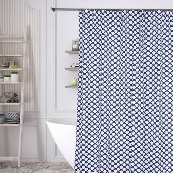 Fishscale Cotton Shower Curtain