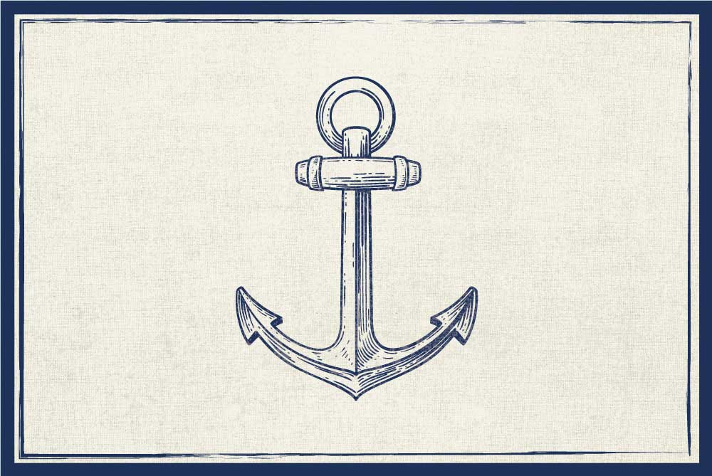 Thick Vinyl Placemat Anchor