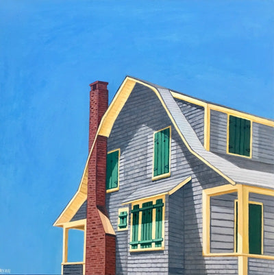 green shutters house truro MA cape cod giclee