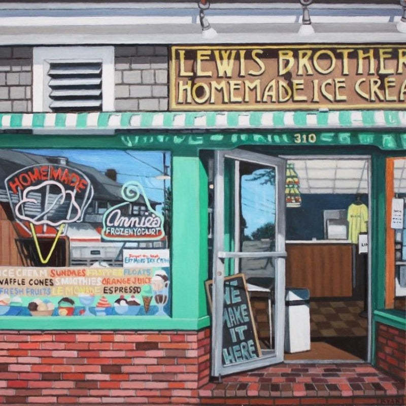Kate Ryan Art - Lewis Bros. Ice cream