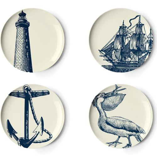 Scrimshaw Side Plates Set 4