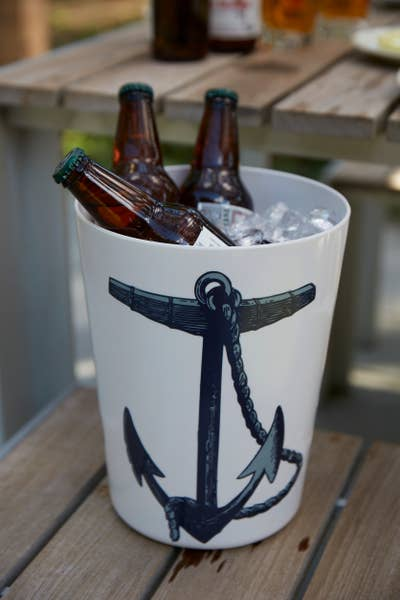 Scrimshaw Vessel/Waste Basket