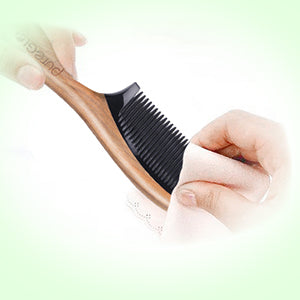 Clean Wooden Hair Comb
