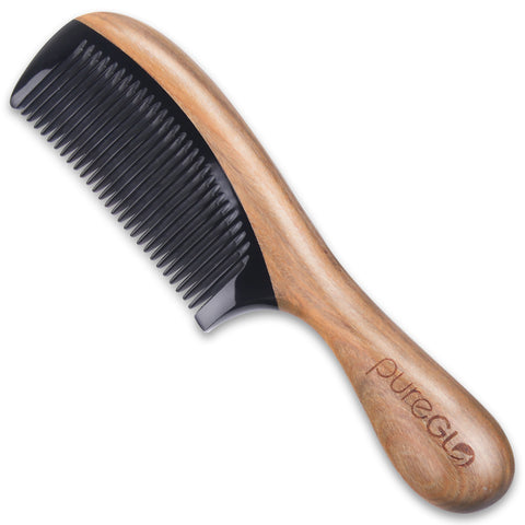 No-static Wooden Fine Tooth Hair Comb