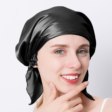 Pure Silk Night Sleeping Hair Bonnet