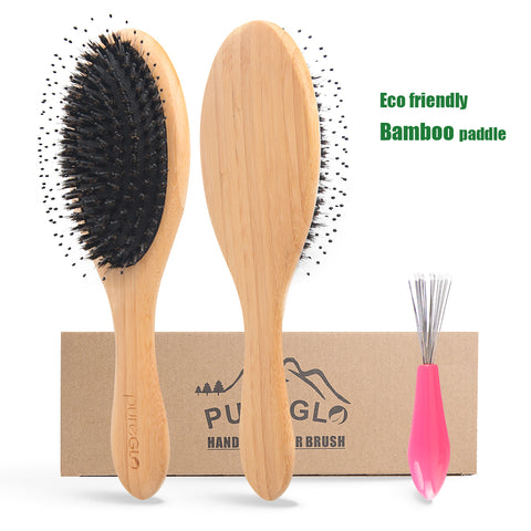 Natural Bamboo Paddle Boar Bristle Hair Brush