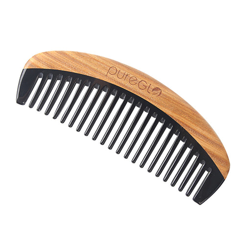 Anti-Static Horn Sandalwood Wooden Hair Comb
