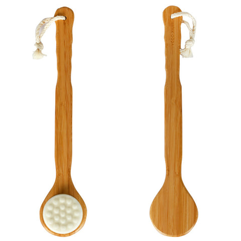 Nanofiber Wool Bamboo Massage Long Shower Bath Brush
