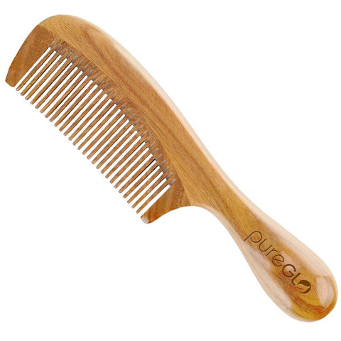 No Static Detangling Handmade Natural Fine Tooth Wooden Comb