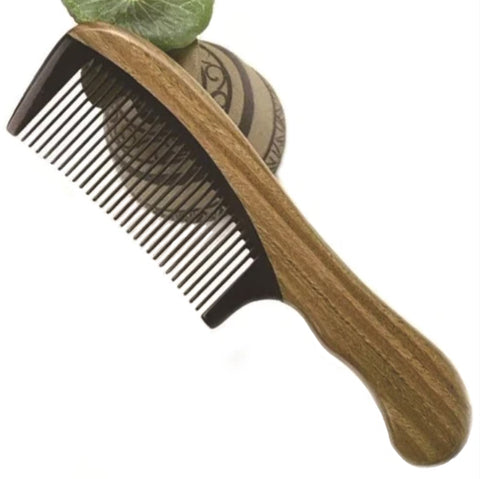 Handmade Wooden Anti-static Fine Tooth Horn Hair Comb