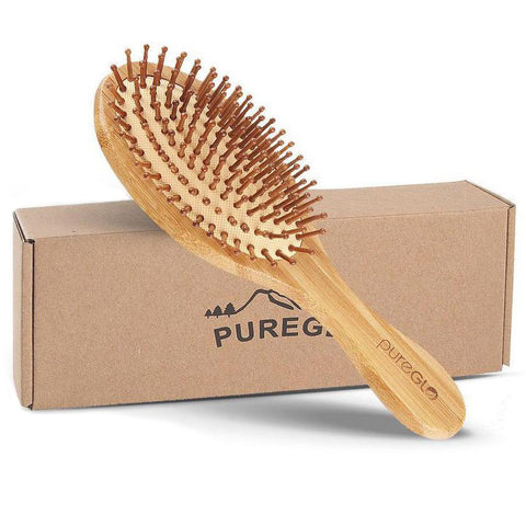 Natural Bamboo Paddle Hair Brush Oval