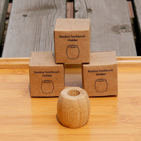 Natural Bamboo Toothbrush Holder 3 Packs
