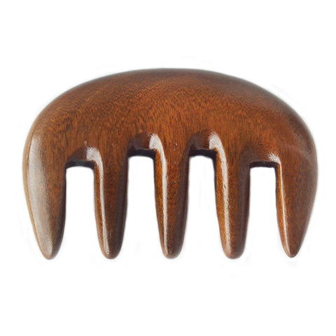 Natural Black Sandalwood Wide-tooth Curly Hair Comb