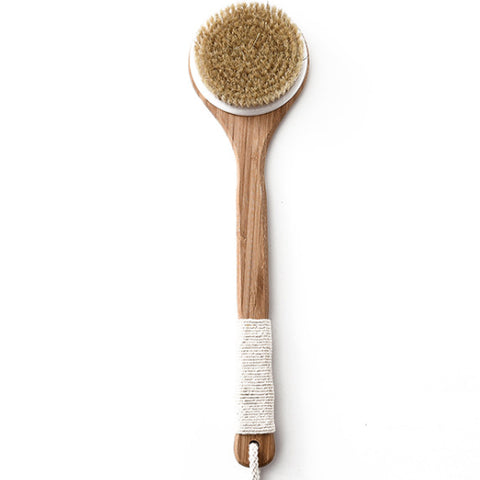 Natural Boar Bristles Bamboo Shower Bath Back Brush