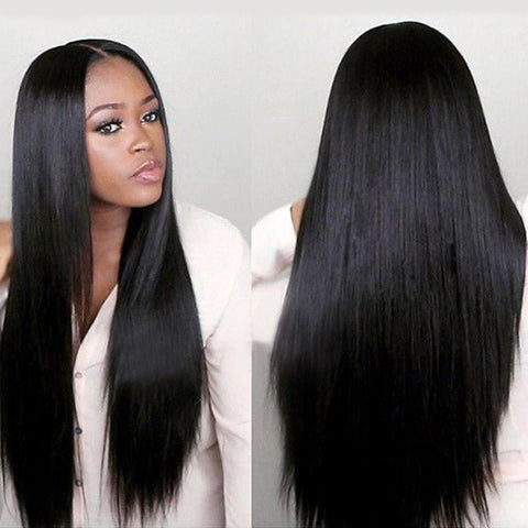 Natural Women Long Straight Synthetic Wig