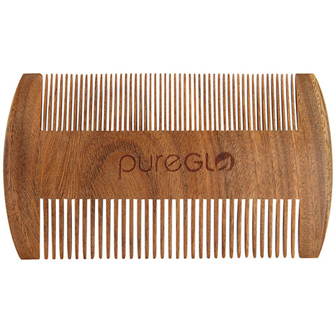Natural Wooden Beard Brush Short Green Sandalwood Comb
