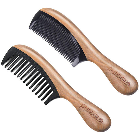 No-static Horn Wooden Hair Comb Set