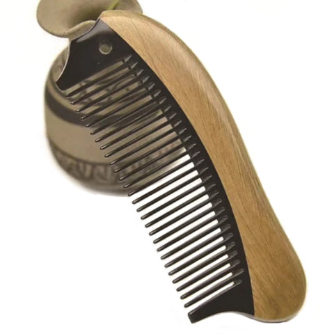 Wooden Fine Tooth Horn Hair Comb Without Handle