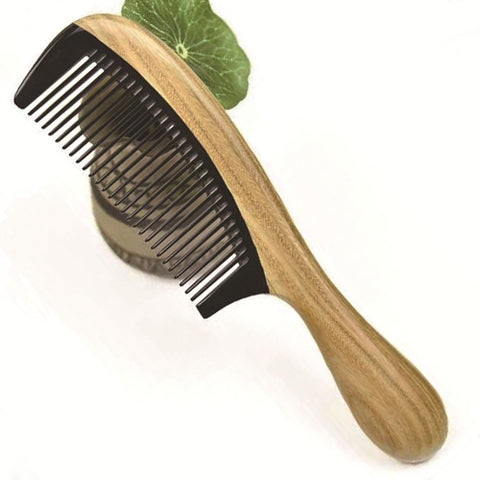 Wooden No-static Fine Tooth Hair Comb