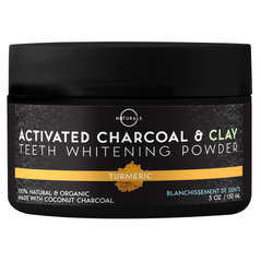 O Naturals Activated Charcoal Tooth Whitening Powder with Turmeric is innovatively designed to brighten your teeth and give them a quality, deep-cleaning treatment.