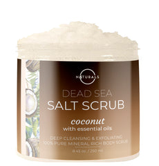 O Naturals Coconut Dead Sea Salt Scrub was designed to purify & moisturize you skin by removing impurities to reveal soft, nourished and healthy skin.