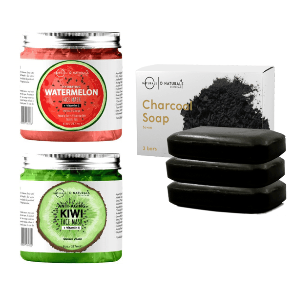 Activated Charcoal Bar Soap + 2 Gel Face Mask
