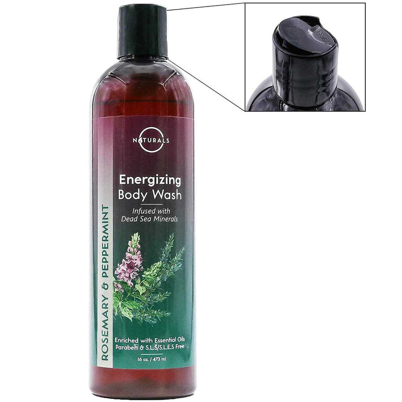 Energizing Rosemary & Peppermint Natural Body Wash